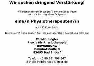 450 Euro Job Urlaubsanspruch Berechnen : jobs praxis f r physiotherapie carolin siegler ~ Themetempest.com Abrechnung