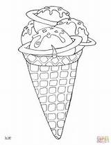 Coloring Ice Cream Desserts Pages Space Cone Drawing Needle Printable Colouring Lollipops Line Mindfulness Getdrawings Paper Popular Medium sketch template