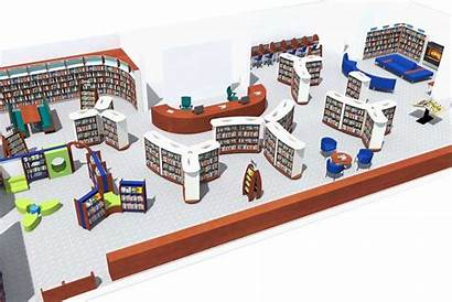 Library Layouts Intelligent Layout Plan Floor 3d