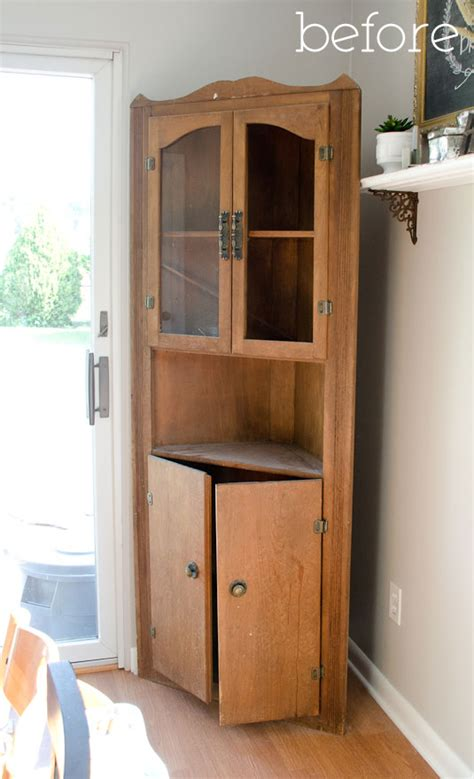 corner hutch cabinet for dining room my practically free dining room cabinet the golden sycamore