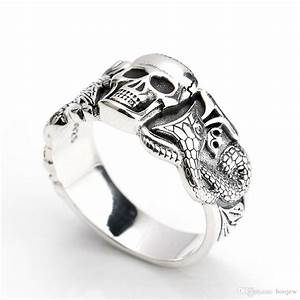 2018 2017 men ring gothic mens skull snake ring man With gothic mens wedding rings