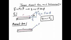 Torque  Moment Arm  And Determinants