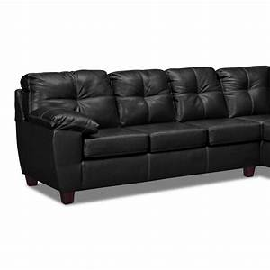 rialto leather 2 pc sectional reverse value city With leather sectional sofa value city