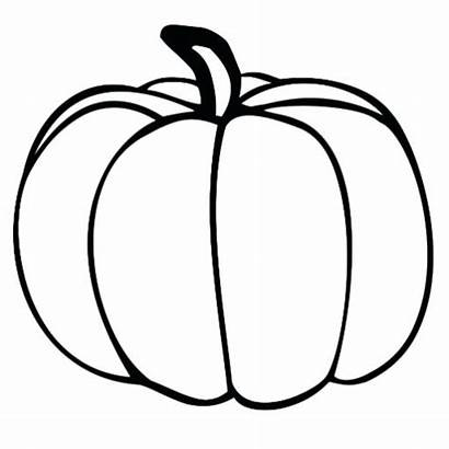 Pumpkin Outline Printable Drawing Cut Clipart Template