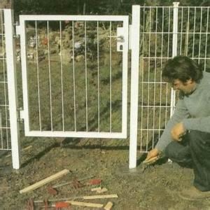Panneaux Rigide Pour Cloture : portillon pour cl ture en panneaux rigides ~ Edinachiropracticcenter.com Idées de Décoration
