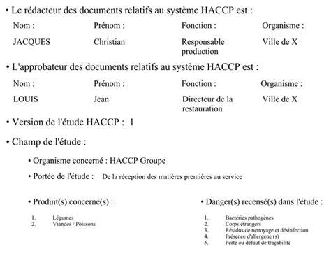 recherche emploi cuisine collective annexe n 1 exemple d 39 étude haccp sur les plats chauds