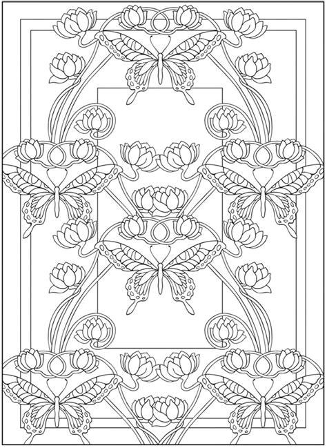 art nouveau coloring pages    print
