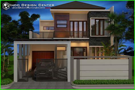 gambar  desain model rumah minimalis   lantai