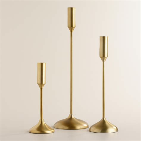 Candle Holders by Gold Metallic Taper Candleholders Homie Candle Holders