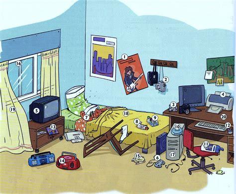 dans la chambre décrire une chambre situer les objets vocabulaire