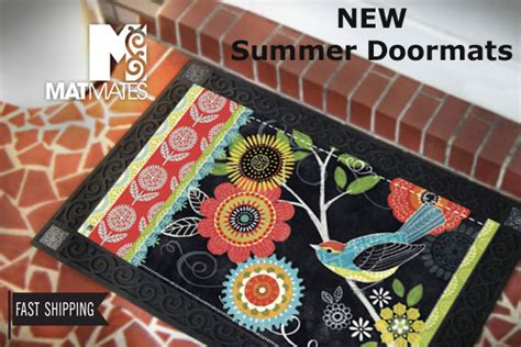 Summer Doormats by Matmates Door Mats Welcome Indoor Outdoor Entrance Mat For