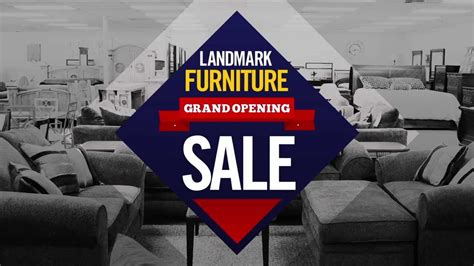 landmark furniture grand opening sale