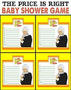 free printable price is right baby shower game template - candy bar shower game printable