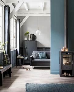 Salon Gris Bleu : comment utiliser la couleur bleu canard dans sa d co shake my blog ~ Melissatoandfro.com Idées de Décoration