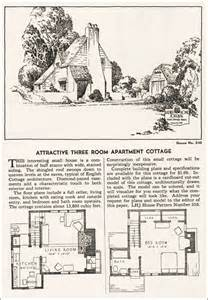 Country Cottage Floor Plans 1935 Eclectic Cottage Home Journal House Plans