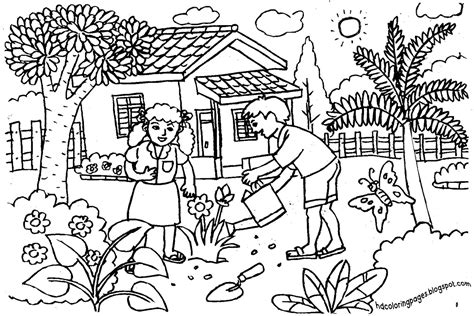 vegetable garden coloring pages sketch coloring page