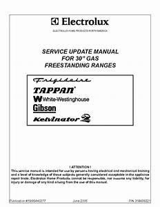 Electrolux 30inch Freestanding Gas Ranges Service Manual Download  Schematics  Eeprom  Repair