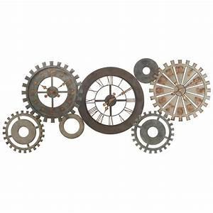 Horloges rouages en métal L 164 cm MÉCANISME Maisons du Monde