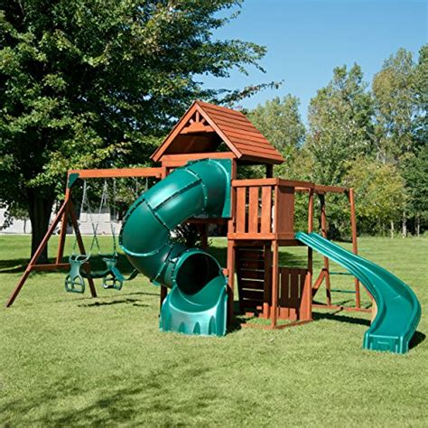 Swing And Slide Swing by Swing N Slide Grandview Twist Play Set With Two Slides