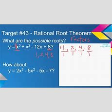 T#43 Rational Root Theorem Example Youtube