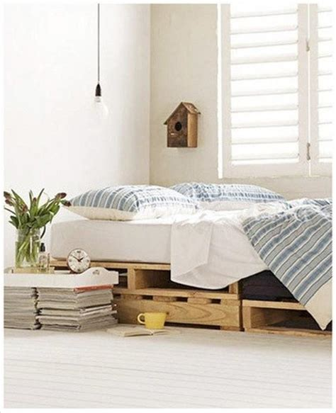 Diy Wooden Bed by 10 Diy Beds Made Out Of Pallets Wooden Pallet Furniture