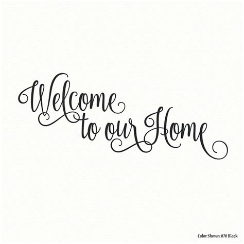 Quot Welcome To Kidonshop welcome to our home vinyl wall quotes vinyl wall decals