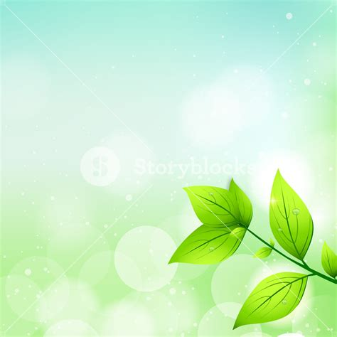 Fresh Backgorund by Abstract Nature Background With Fresh Green Leaves Royalty