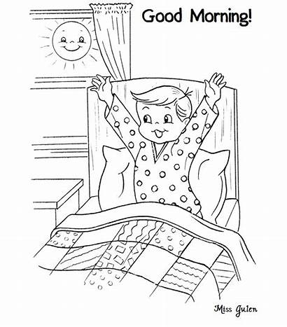 Coloring Morning Night Pages Afternoon Google Printable