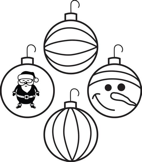 christmas ornaments to color free printable ornaments coloring page for 4