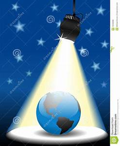 Planet, Earth, On, Sky, Stage, In, The, Spotlight, Stock, Vector