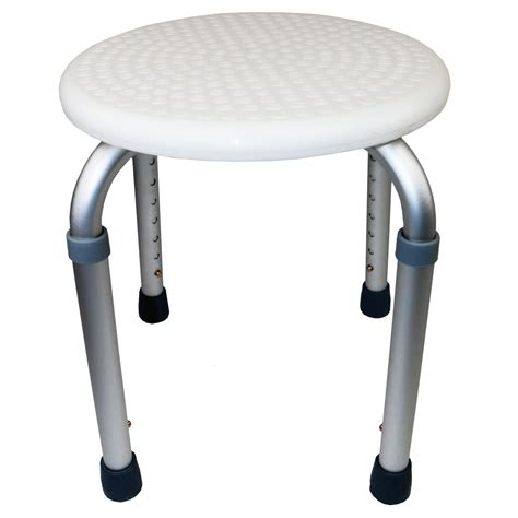 height adjustable round shower bath stool seat disability