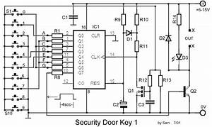 Simple Security Door Electronic Key