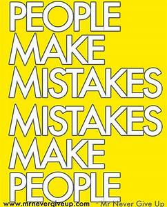 How are you using your mistakes to help shape you and your ...