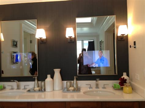 Bathroom Mirrors With Tv Built In Fantastic Gray