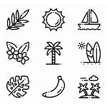Icon Icons Tropical Doodle Packs Beachy Minimalist