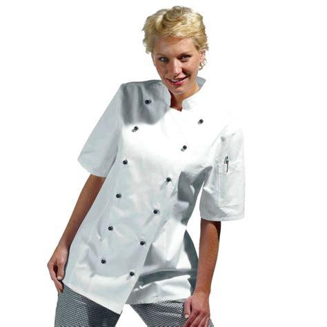 femme cuisine veste de cuisine femme manches courtes cintrée coton sergé