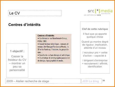 Conseil Rédaction Cv by Conseil Cv Centre D Interet
