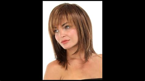 Medium Hairstyles For Women Over 40 With Bangs