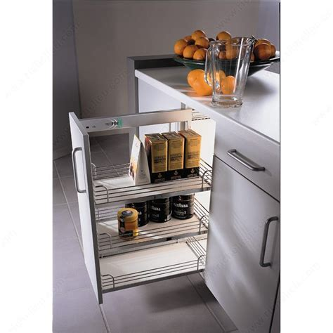 Wire Storage Baskets For Kitchen Cupboards by Sliding Chrome Wire Baskets For Base Cabinets Richelieu