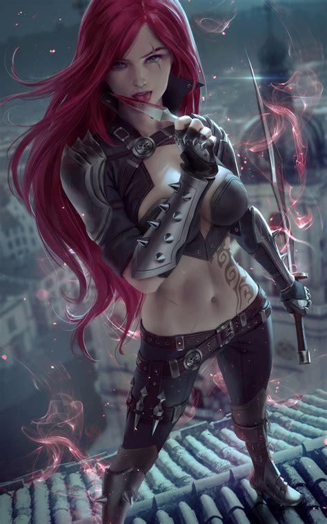 800x1280 Redhead Fantasy Warrior Girl With Sword 4k Nexus