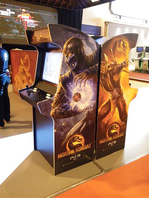 mortal kombat 9 arcade machine for warner bros bespoke arcades