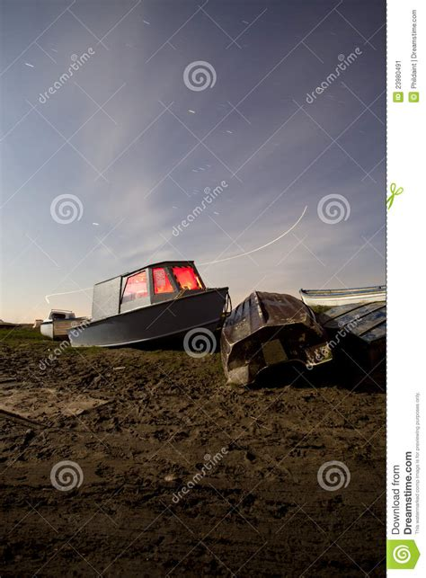 Old Boat Lights by Light Painted Boat At Night Stock Image Image 23980491