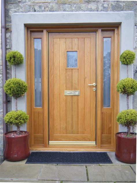 Wood Front Door With Door by Oak Front Door With Side Windows Search Taş Ev
