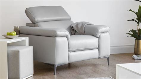 Modern Real Leather Armchair