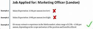 Salary requirement examples for How to state your salary expectations in a cover letter