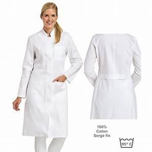 Cote De Travail Femme : blouse blanche femme manches longues col officier ~ Dailycaller-alerts.com Idées de Décoration