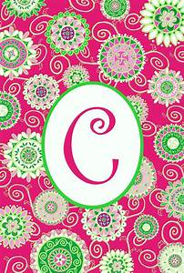 "C"" Monogram Mini Flag-Fashion Circles 