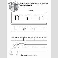 """Lowercase Letter """"n"""" Tracing Worksheet  Doozy Moo"""