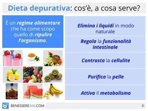 alimenti per depurare i reni dieta depurativa cosa mangiare per depurare il corpo