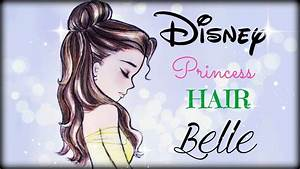 How to draw and color Disney Princesses Hair Belle - YouTube
